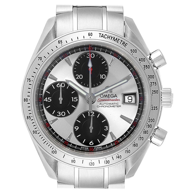 Omega Speedmaster Day-Date Silver Panda Dial Men's Watch 3211.31.00 For Sale