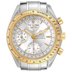 Omega Speedmaster Day Date Steel Yellow Gold Watch 323.21.40.44.02.001 Card