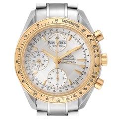 Omega Speedmaster Day Date Steel Yellow Gold Watch 323.21.40.44.02.001