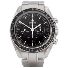 Omega Speedmaster Moonwatch Chronograph Stainless Steel Wristwatch