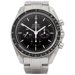 Omega Speedmaster Moonwatch Chronograph Stainless Steel Wristwatch