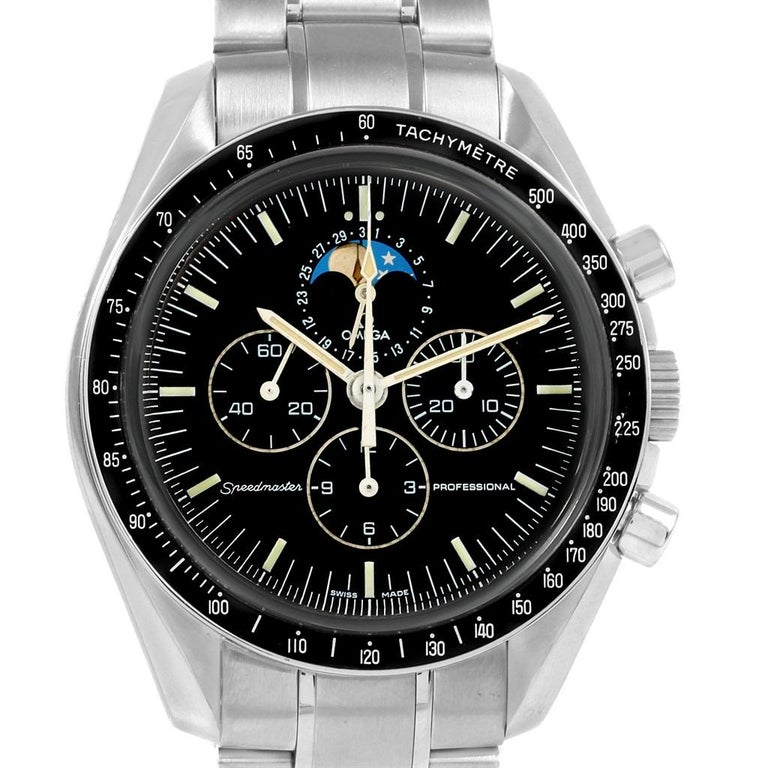 Men's Omega Speedmaster Professional Moonphase Moon Watch 3576.50.00 For Sale