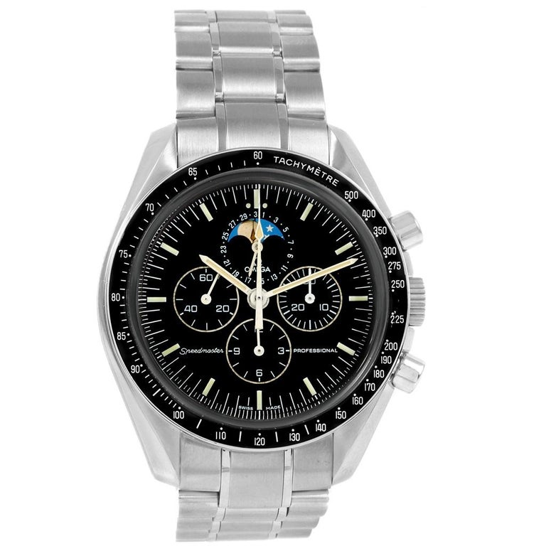 Omega Speedmaster Professional Moonphase Moon Watch 3576.50.00 For Sale 2