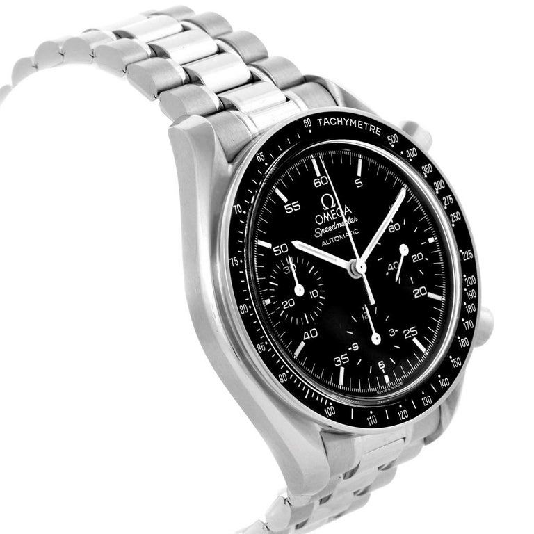 Omega Speedmaster Reduced Black Dial Automatic Men's Watch 3510.50.00 In Excellent Condition For Sale In Atlanta, GA