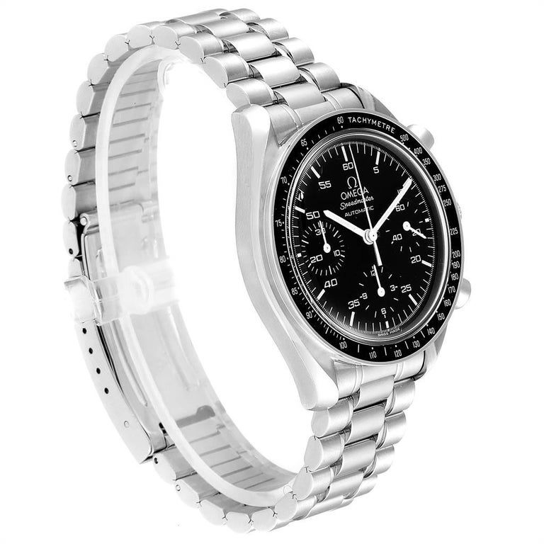 Omega Speedmaster Reduced Black Dial Automatic Men's Watch 3510.50.00 In Excellent Condition In Atlanta, GA