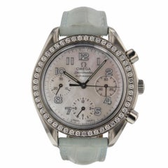 Omega Speedmaster Reduced Steel 38 mm MOP Dial Automatic Diamond Watch 2750032
