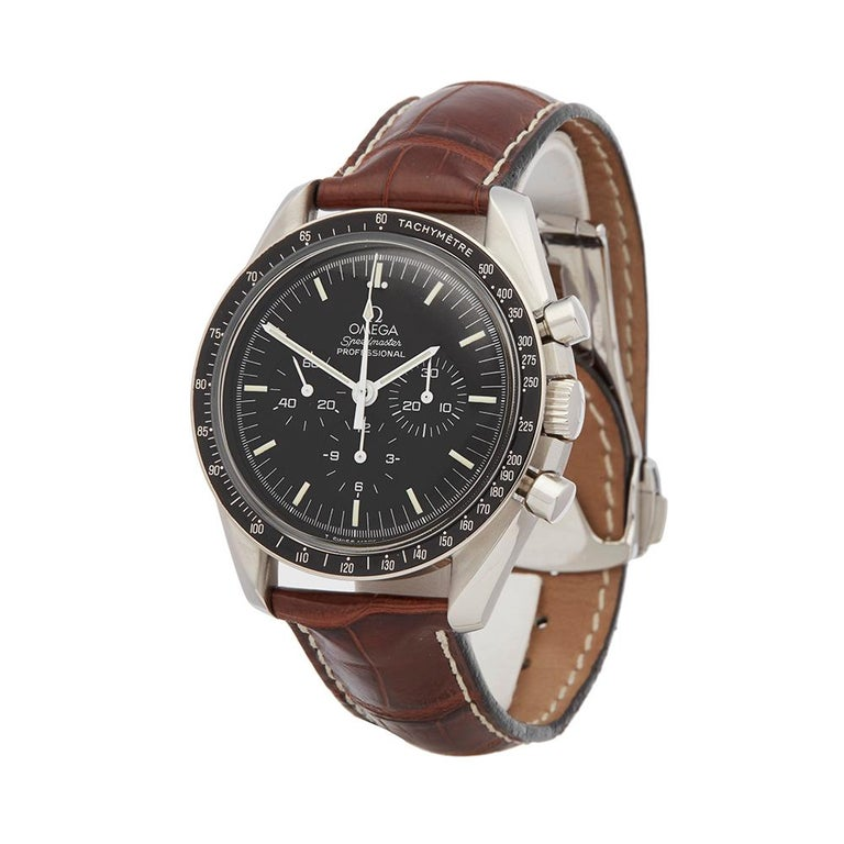 Ref: W5430 Manufacturer: Omega Model: Speedmaster Model Ref: 145.022 Age:  Gender: Mens Complete With: Xupes Presentation Box Dial: Black Baton Glass: Plexiglass Movement: Mechanical Wind Water Resistance: To Manufacturers Specifications Case: