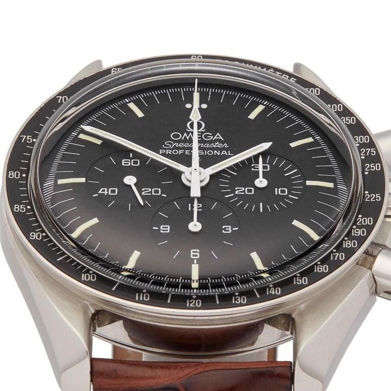 Modern Omega Speedmaster Stainless Steel 145.022 Gents Wristwatch For Sale