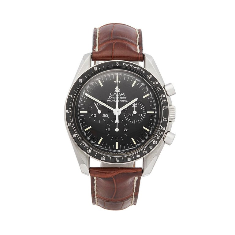 Omega Speedmaster Stainless Steel 145.022 Gents Wristwatch For Sale