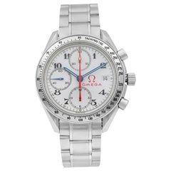 Omega Speedmaster Steel Chronograph White Dial Automatic Men's Watch 3515.20.00