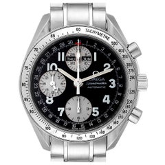 Omega Speedmaster Tripple Calendar Black Arabic Dial Watch 3523.51.00
