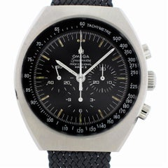 Omega Speedmaster with Band and Black Dial Certified Pre-Owned