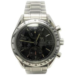 Omega Speedmaster With Stainless-Steel Bezel & Black Dial