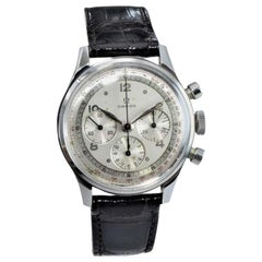 Omega Stainless Steel 3 Register Chronograph Manual Wind, circa 1950s
