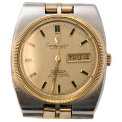Omega Stainless Steel Gold Fill Constellation Automatic Wristwatch, 1950s