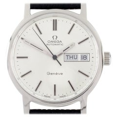 Omega Stainless Steel Men's Automatic Genève Watch with Day and Date #1022