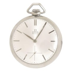 Omega Stainless Steel Manual Wind Pocket Watch, 1960
