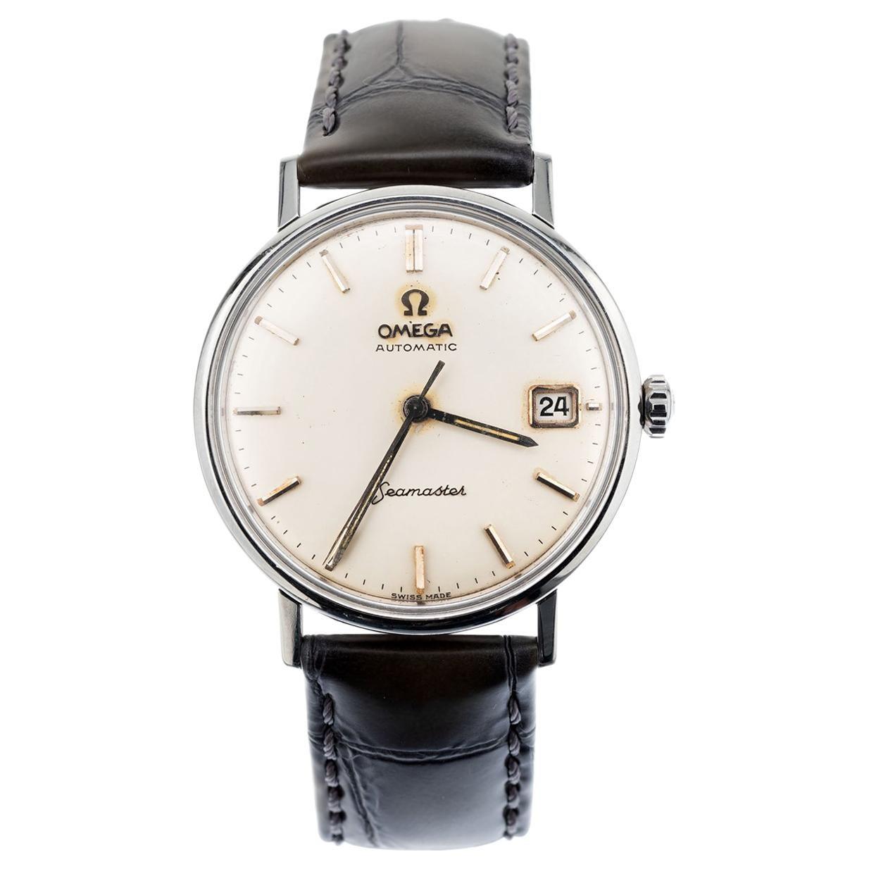 Omega Stainless Steel Seamaster Men's Wristwatch