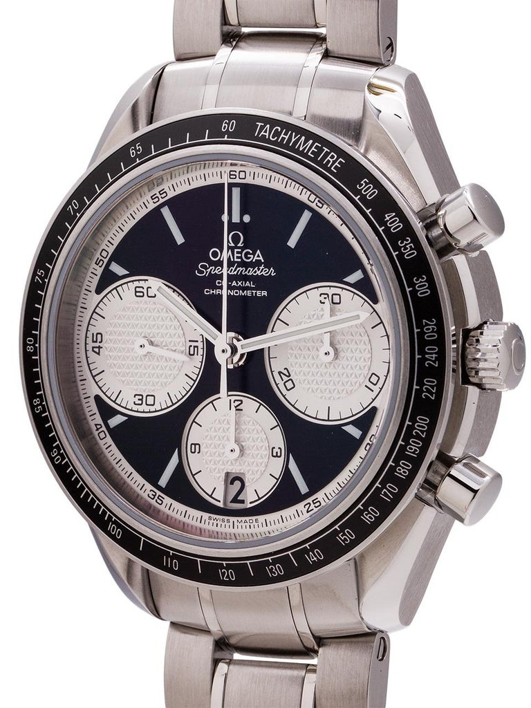 Omega stainless steel Speedmaster Reverse Panda Dial Automatic Wristwatch, 2000s In Excellent Condition In West Hollywood, CA