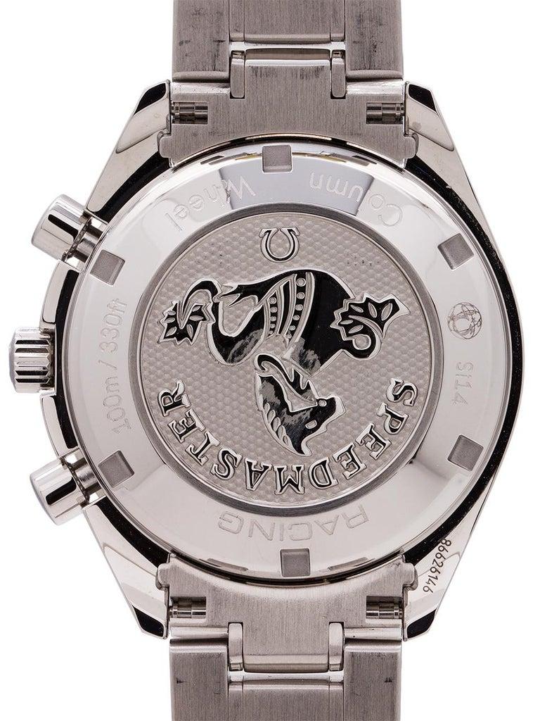 Men's Omega stainless steel Speedmaster Reverse Panda Dial Automatic Wristwatch, 2000s