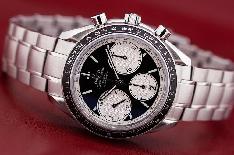Omega stainless steel Speedmaster Reverse Panda Dial Automatic Wristwatch, 2000s 2