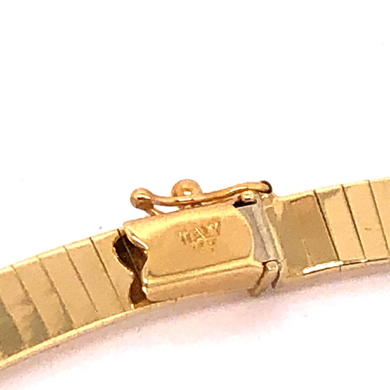 Women's Omega Style Yellow Gold Necklace
