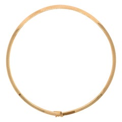 Omega Style Yellow Gold Necklace