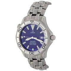 Omega Titanium Seamaster Professional Date Automatic Wristwatch