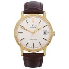 Omega Vintage 1360099 Men's Yellow Gold Watch