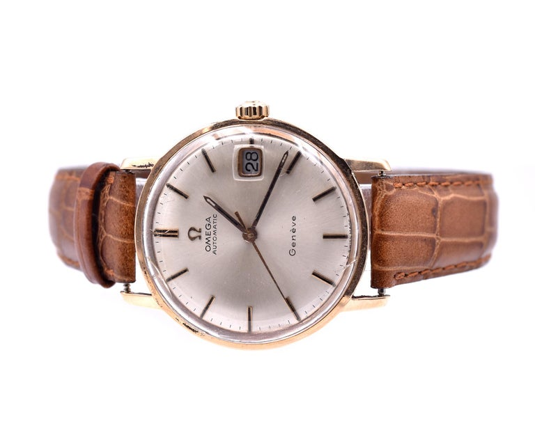 Omega Vintage 14 Karat Yellow Gold Automatic In Excellent Condition For Sale In Scottsdale, AZ