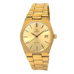 Omega Vintage 18 Karat Yellow Gold Plated Men's Watch Automatic V