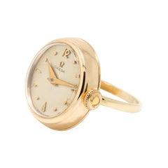 Omega Vintage 9kt Gold Watch Ring, Dennison Case, Birmingham, 1977