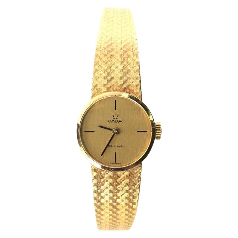 Omega Vintage De Ville Manual Watch Yellow Gold 21