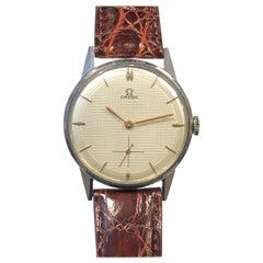 Omega Vintage Large Steel Mechanical Wristwatch