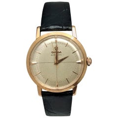 Omega Vintage Rose Gold Automatic Gents Wristwatch