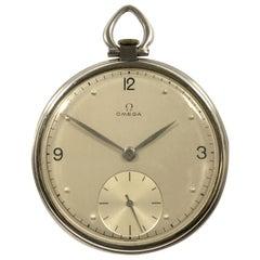 Omega Vintage Steel Cased Pocket Watch