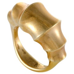 Omega Womens 18 Karat Yellow Gold Bamboo Ring