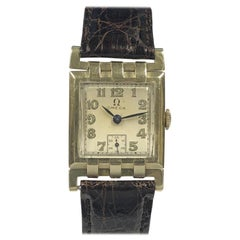 Omega Yellow Gold 1930 Flexible Lug Mechanical Wristwatch
