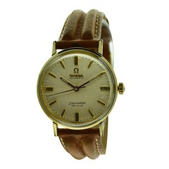 Omega Yellow Gold Filled Seamaster Deville Automatic, circa 1960s