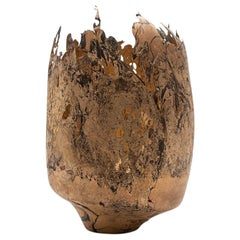 Omer Arbel 113 Series, Unique Vessel N64 in Copper Alloy Casted in Glass