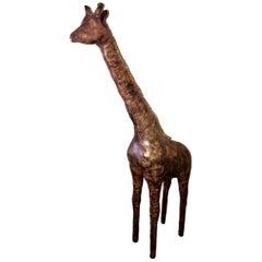 Omersa 6 Foot Tall Leather Giraffe