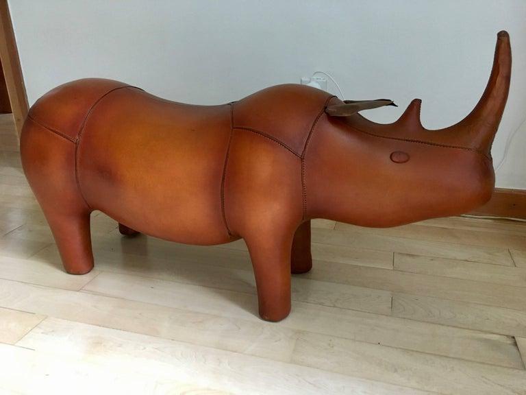 English Omersa Leather Rhino For Sale