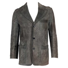 omme des Garçons Distressed Leather Single-Breasted Jacket, 2002