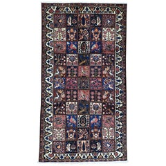 On Clearance Persian Bakhtiari Garden Design Hand Knotted Wide Runner Rug