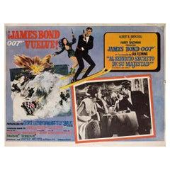 On Her Majesty's Secret Service 1969 Mexican Scene Card
