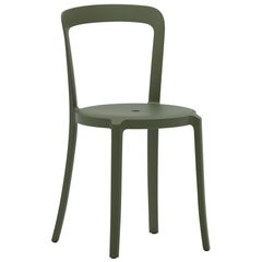 On & On Stacking Chair in Plastic with Green Frame by Barber & Osgerby