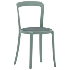 On & On Stacking Chair in Plastic with Light Blue Fabric 1 by Barber & Osgerby