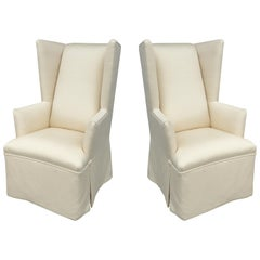 On Point Host Wingback Chairs from J. Robert Scott, a Pair