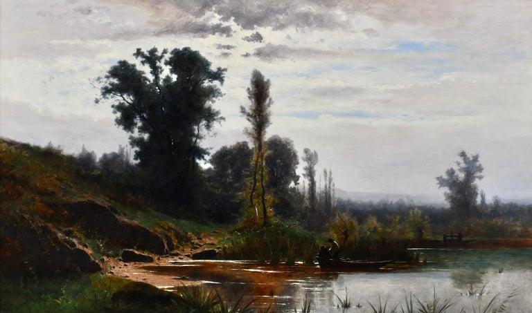 Oil on canvas, signed lower left.  Measurements: Framed: 38