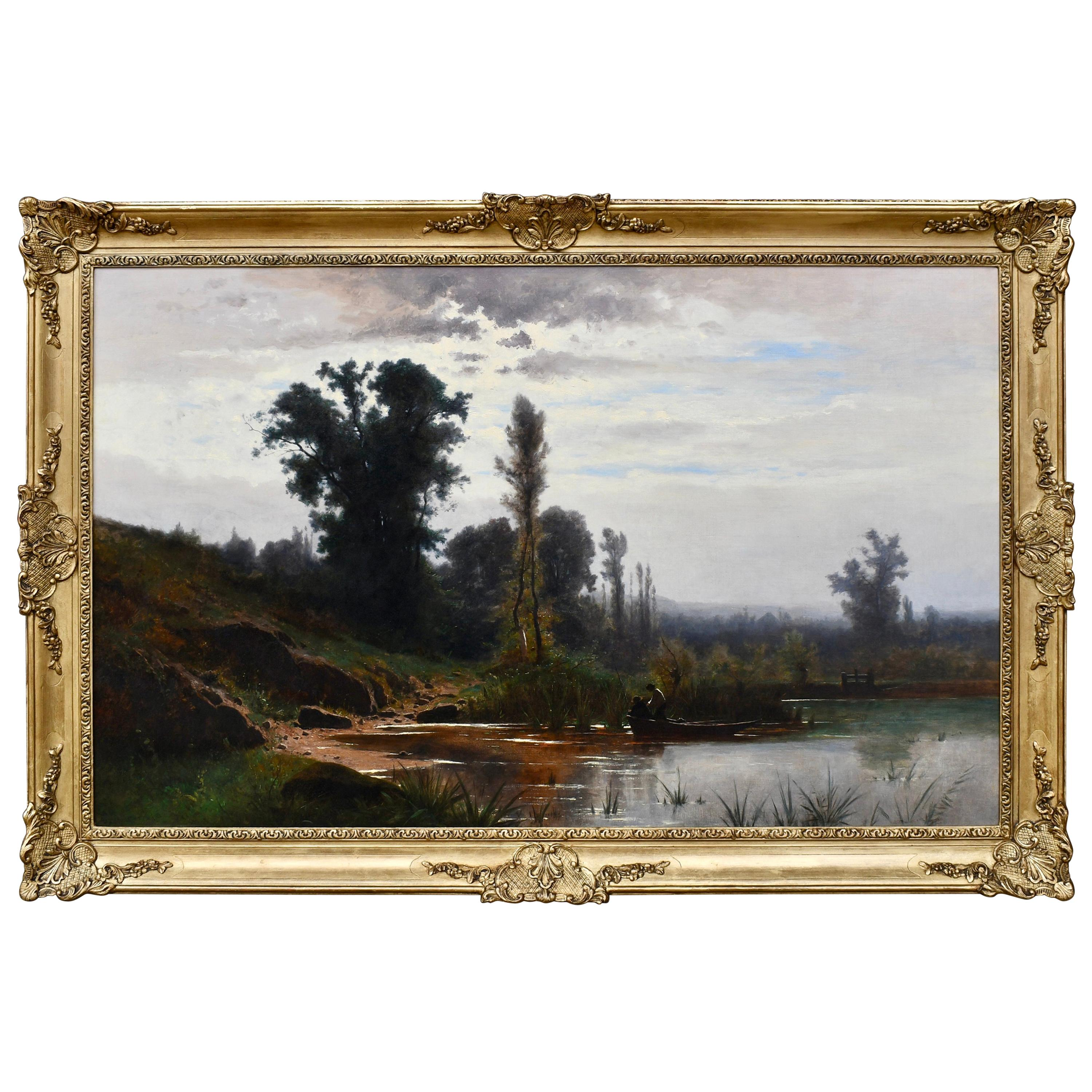 """On the Banks of the River"" by Gustave Castan"